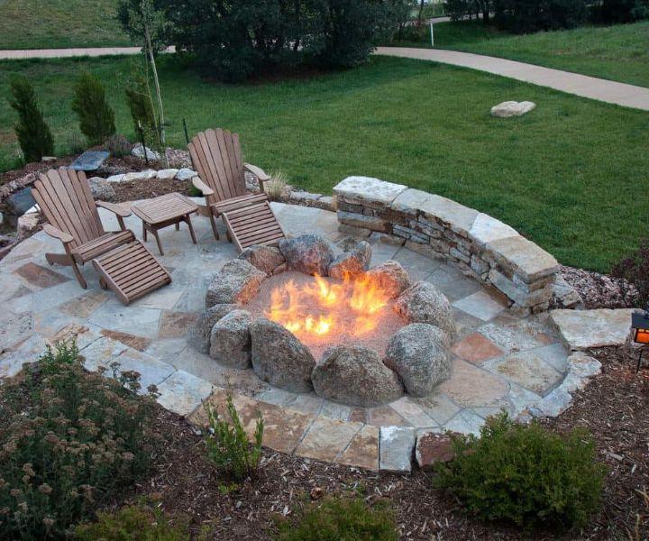 fire pit edging ideas