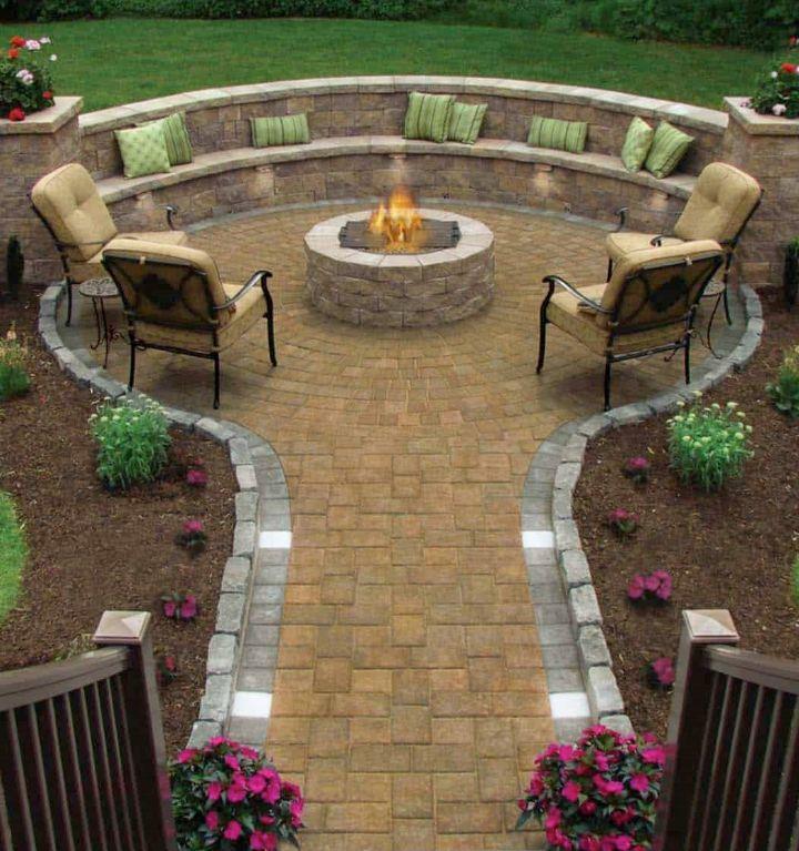 fire pit ideas brick
