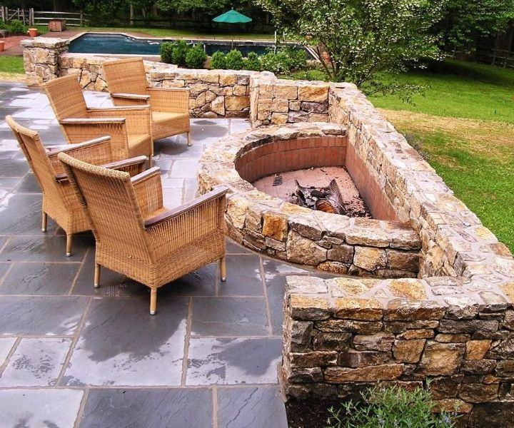 fire pit ideas with bricks