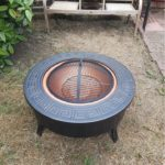fire pit with holes