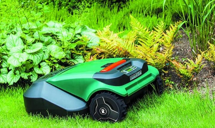 green robot lawnmowers