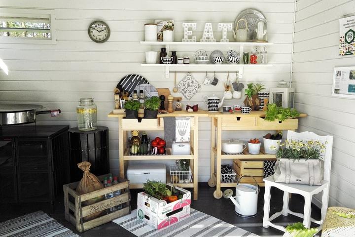 indoor kitchen shelf wall herb garden