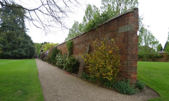knock down brick wall garden