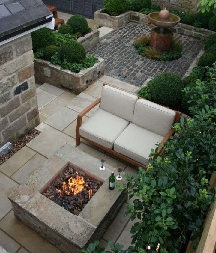 landscaping with fire pit ideas