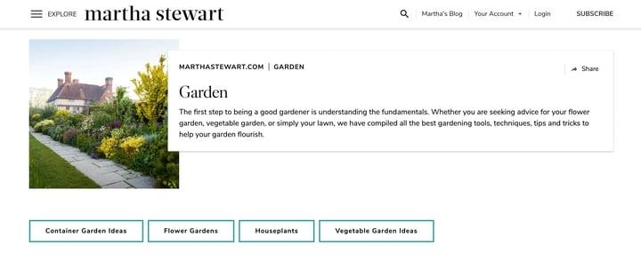 martha stewart best organic gardening blog