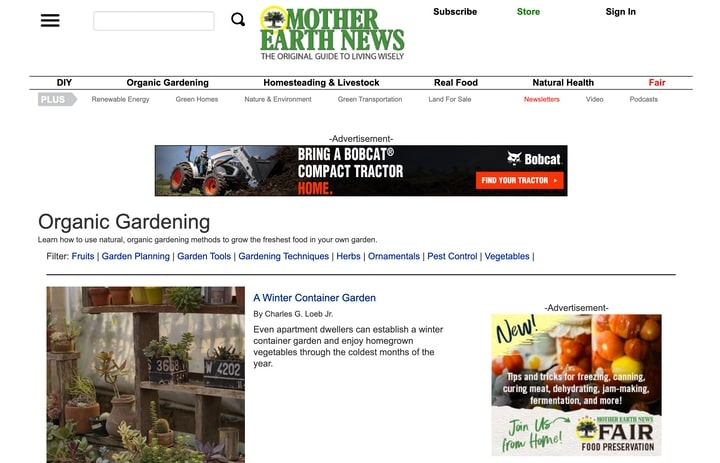 mother earth news best organic gardening resources