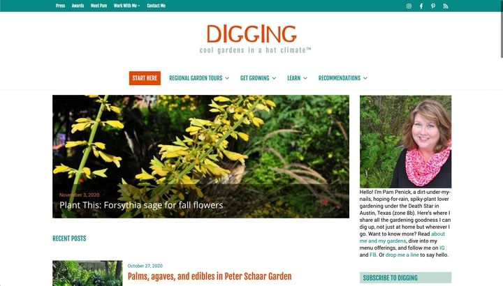 penick gardening website homepage