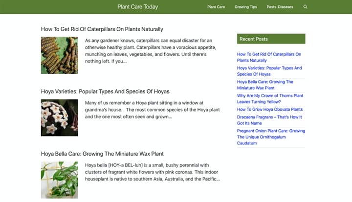 plant care today gardening website homepage