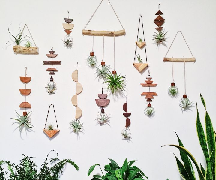 plant wall decor bedroom