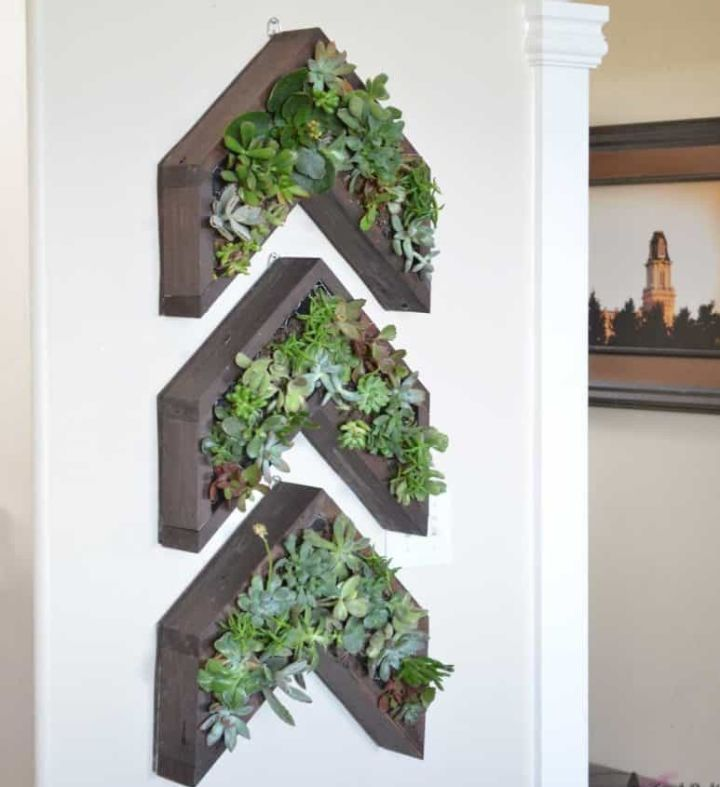 plant wall decor living room