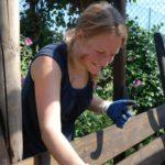 preparing trellises for spring gardening