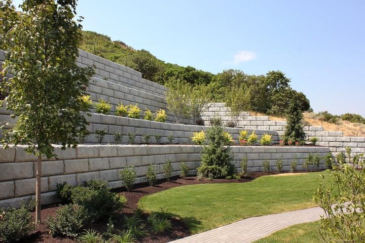 raised retaining wall garden