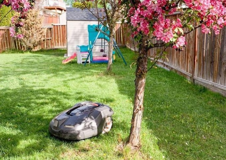 robot lawn mower with theft protection