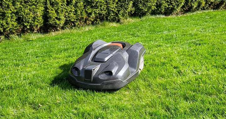 robotic lawn mower in large grass areas