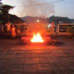 smoking fire pit