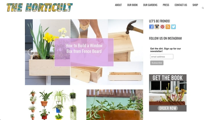 the horticult best horticultural website homepage