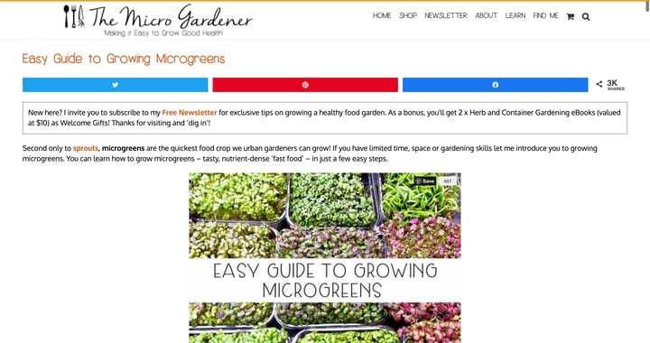 the micro gardener best microgreen website
