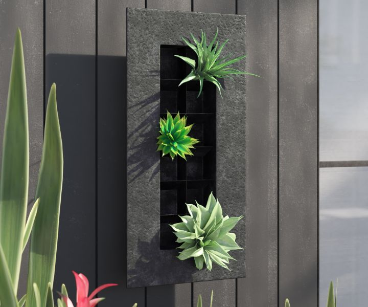wall planter black