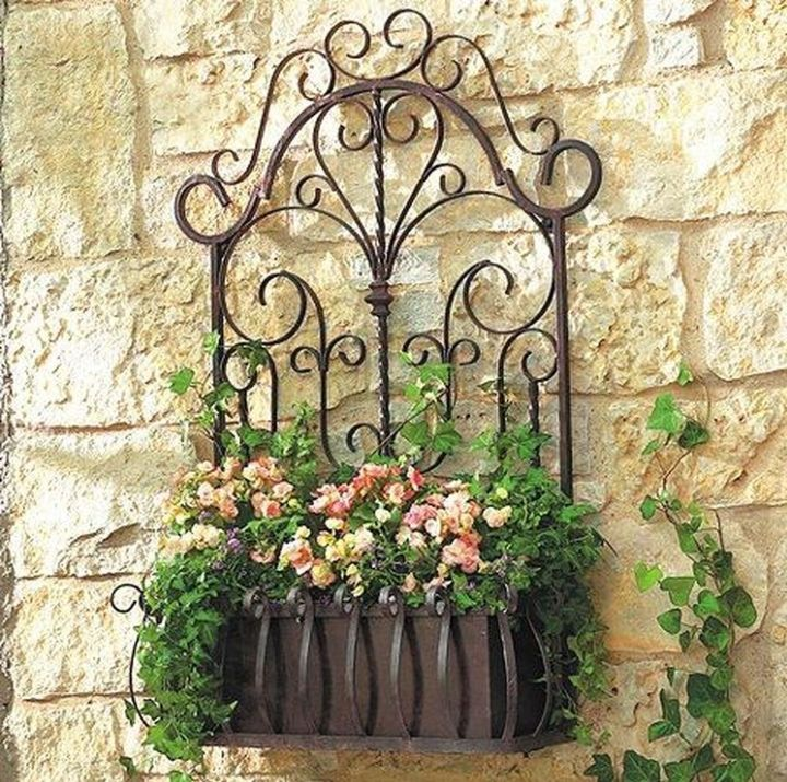 wall planter flowers