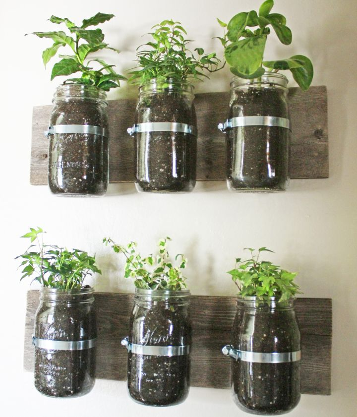 wall planter glass