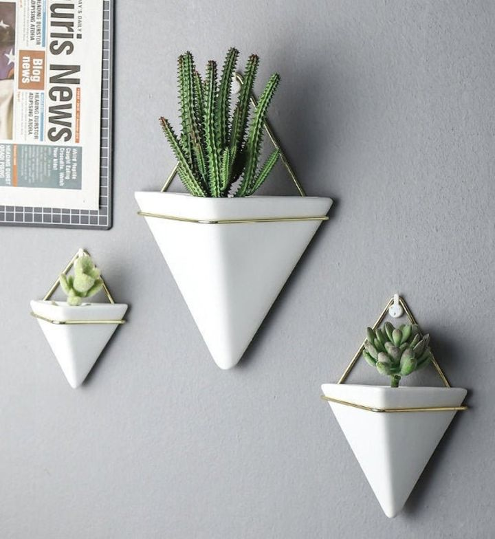 diy wall hanging succulent planter