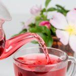 drinking hibiscus tea