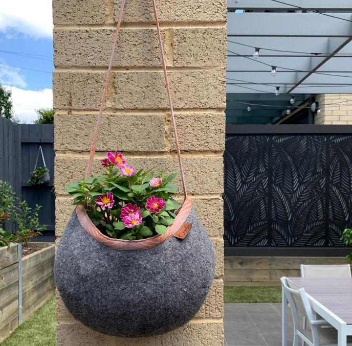 galvanized wall hanging planters