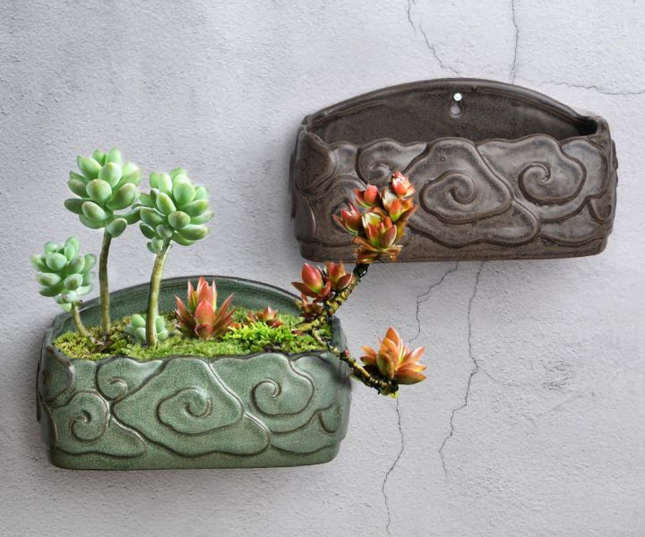 outdoor wall hanging planters