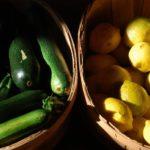 small scale market garden produce