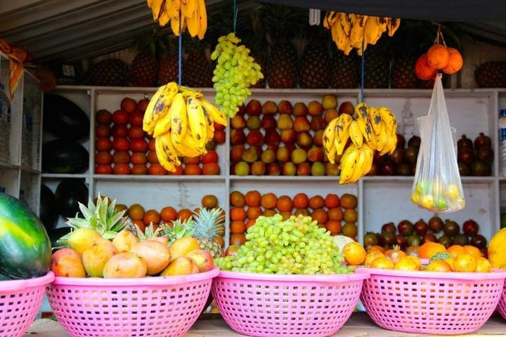 varieties of market gardening produce