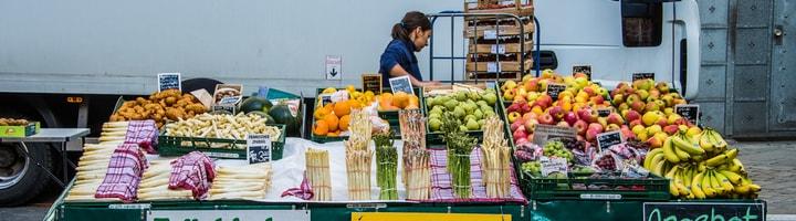 vegetable market garden stand