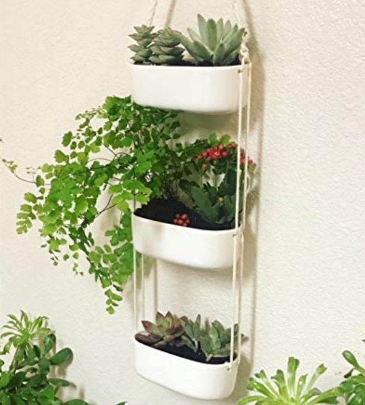 vertical ceramic wall hanging planters