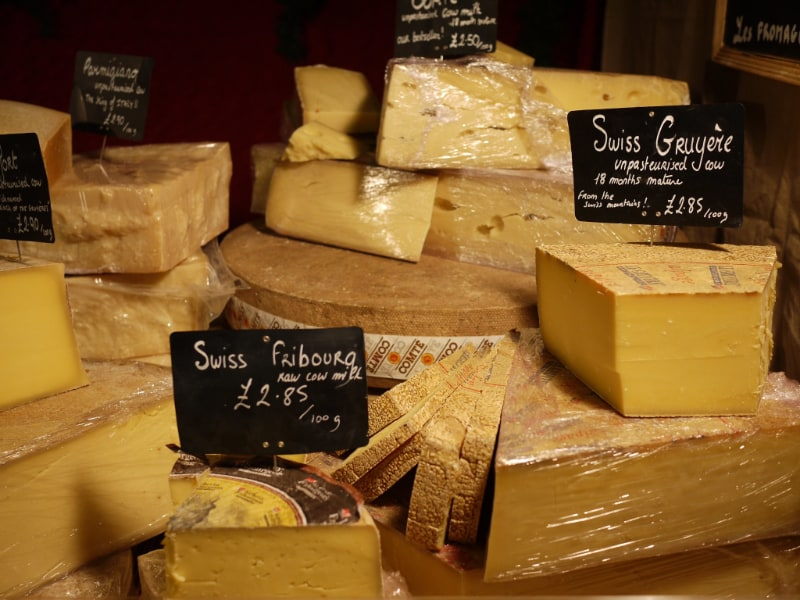 cooked pressed swiss cheeses
