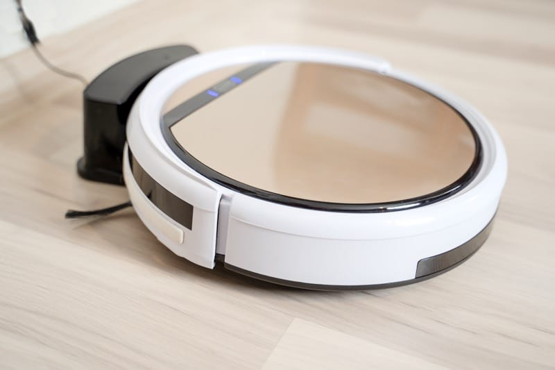 robot vacuum cleaner in charger